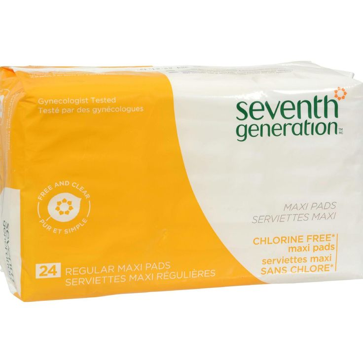Seventh Generation Chlorine Free Maxi Pads Regular - 24 Pads - Case of 12