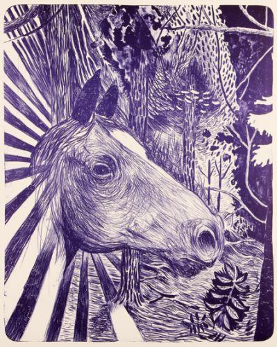 Morten Schelde – Untitled (Lilla hest). Litografisk tryk, 71 x 56 cm. Oplag: 30. Pris: 3.500 kr.