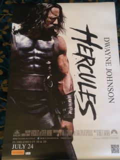 Authentic Hercules Movie Poster (2014) Having endured his legendary twelve labors, Hercules, the Greek demigod, has his life as a sword-for-hire tested when the King of Thrace and his daughter seek his aid in defeating a tyrannical warlord.  Director: Brett Ratner Writers: Ryan Condal (screenplay), Evan Spiliotopoulos(screenplay), Stars: Dwayne Johnson, John Hurt, Ian McShane |  hercules | sword and sandal | based on comic | fictional war | based on comic book   Genres: Action | Adventure