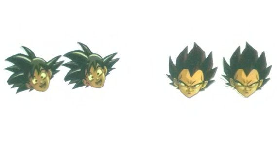 Dragonball Z Goku and Vegeta Earrings by ChicShell on Etsy