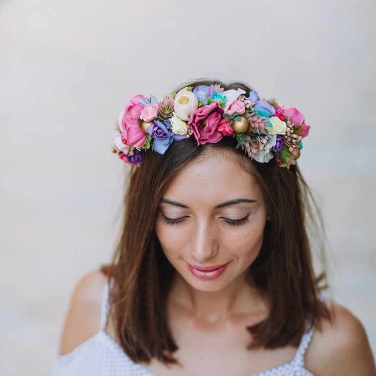 1000 Ideas About Flower Crown Hair On Pinterest: 1000+ Ideas About Floral Headband Wedding On Pinterest