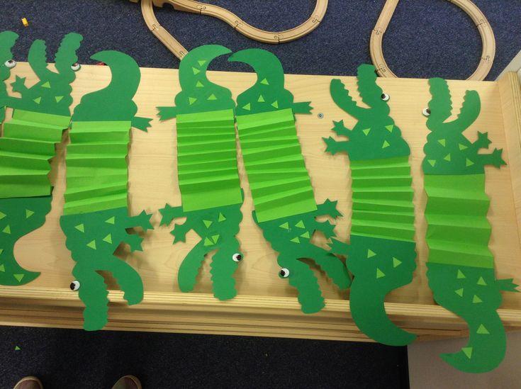 Alligator Stretch Craft Preschool Crafts Jungle Theme