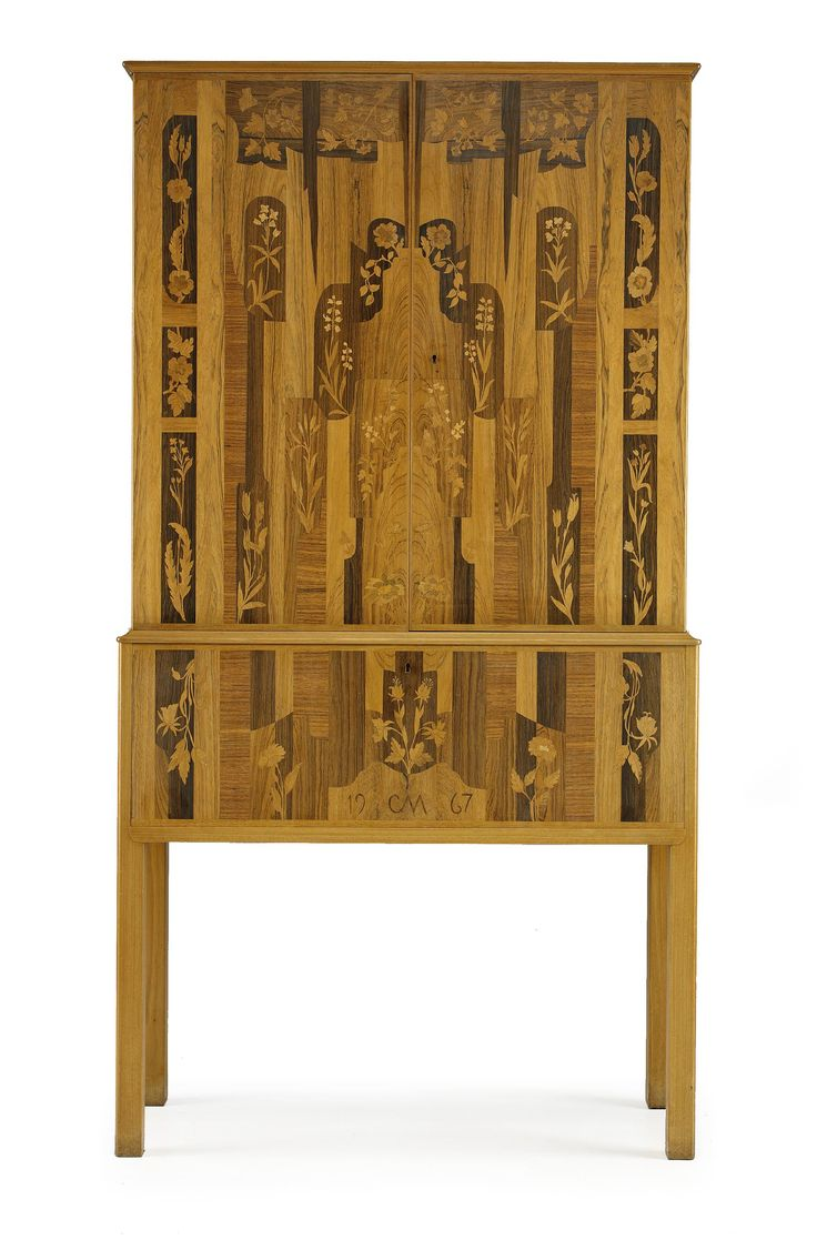 ** Carl Malmsten (Swedish 1888–1972), Cabinet, Mahogany with Fruitwood inlays.
