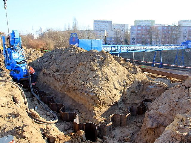 Budowa kładki dla pieszych nad torami PKP Szczecin