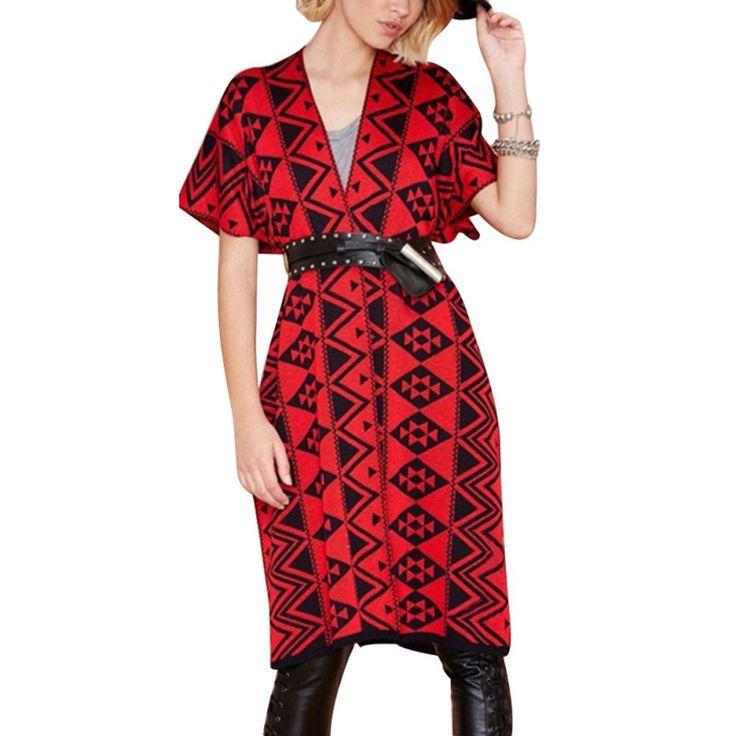 Женская Большой размер свободного покроя длинные пиджаки вязаный кардиган широкий свитера пальто осень-новому