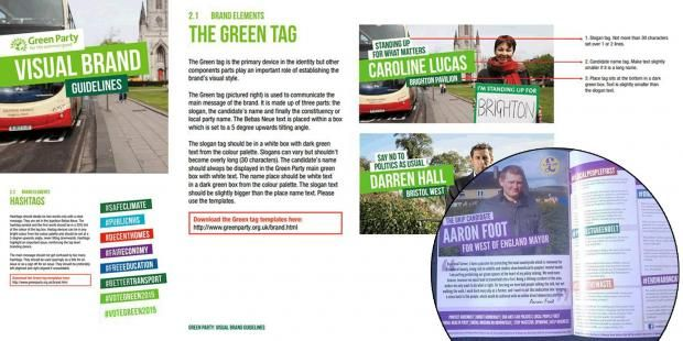 Ukip Mayoral candidate used Green Party's branding