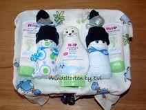 Pflegekörbchen mit Windelbabys für Junge