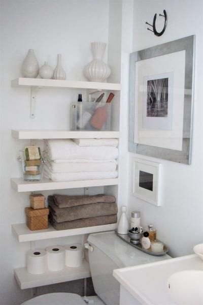 Bathroom, : Small Space Organizing