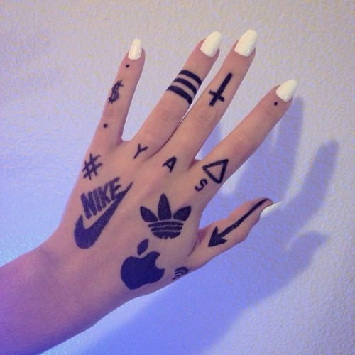 Sharpie tattoo tumblr google search my polyvore finds for Tumblr hand drawings