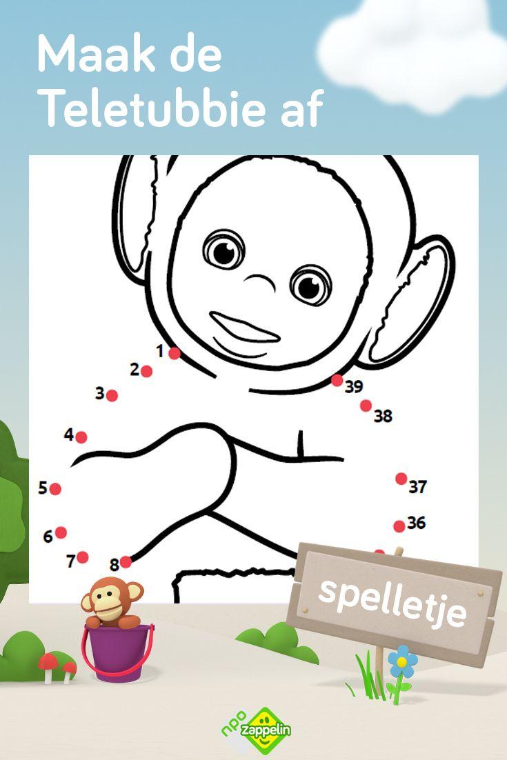 Spelletje Maak De Teletubbie Af Kleurplaten Voor Kinderen Kinderkleurplaten Voor Kinderen