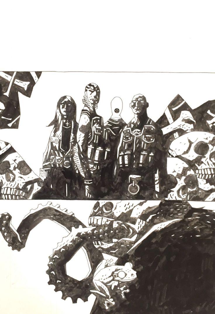 Mike Mignola B.P.R.D., Vol. 3: Plague of Frogs, Cover (2004) Comic Art