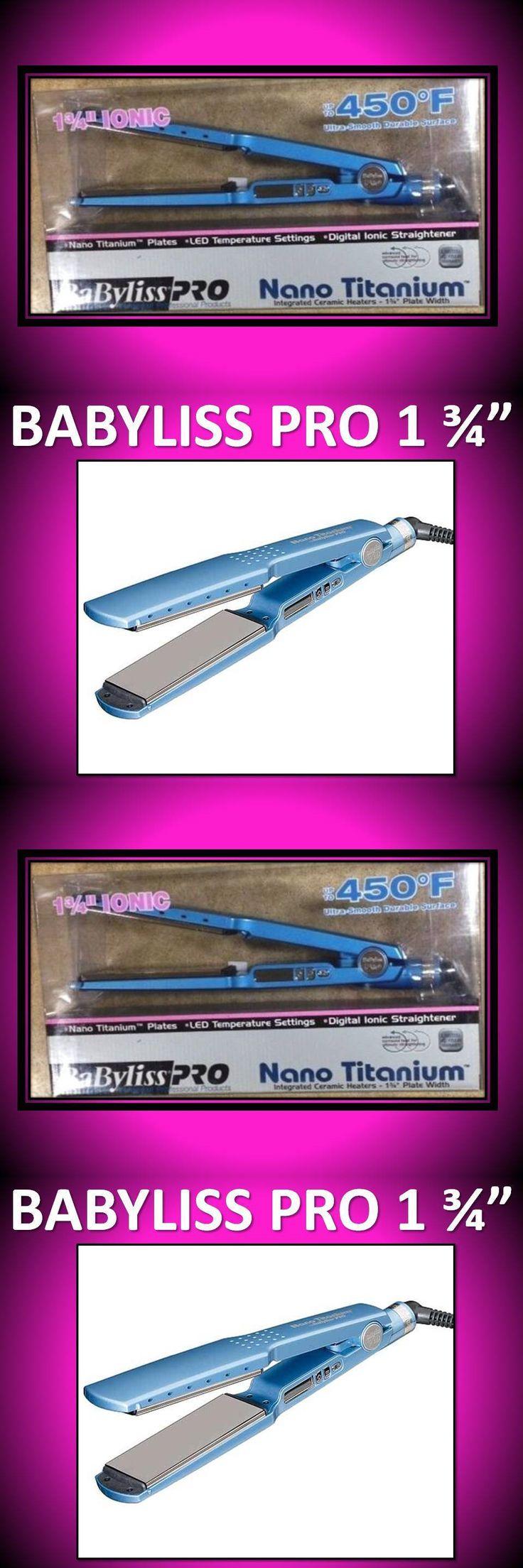 Hair Beauty: Babyliss Pro Nano Titanium 450° Led 1 3/4 Hair Straightener Flat Iron Babnt2094 BUY IT NOW ONLY: $92.76