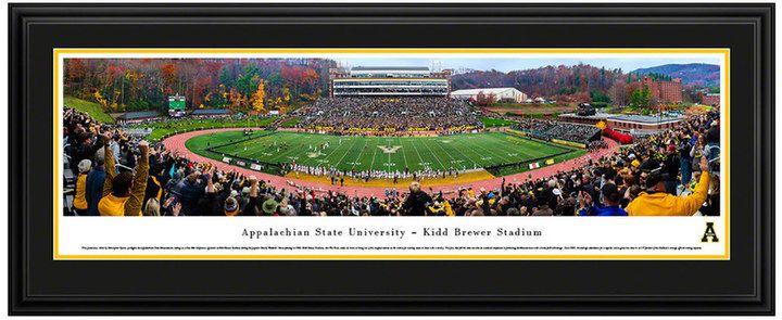Blakeway Worldwide Panoramas Appalachian State Mountaineers Football Stadium Framed Wall Art