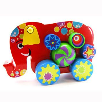 Push and Go Elephant 18 months - 3 years) – Browniepoints.co.nz