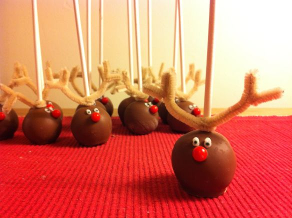 rudolph cake pop and friends