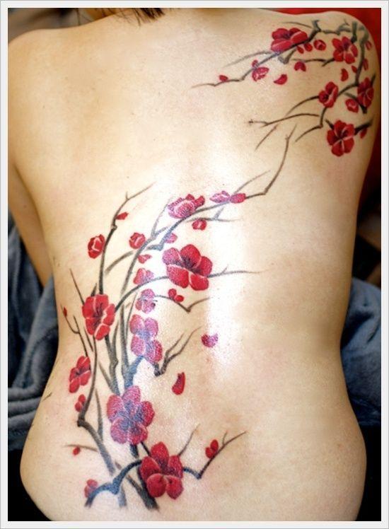 Un tatouage de branche de cerisier 24