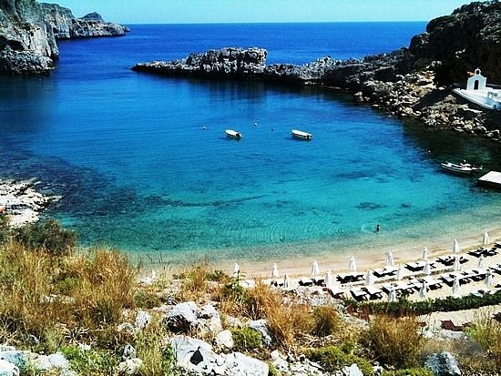 Saint Paul's bay in #Rhodes in one of the most beatiful beaches in #Greece!