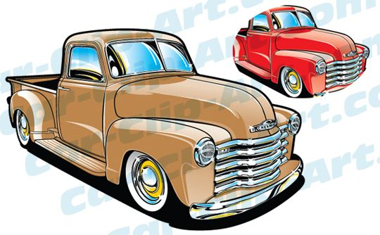 57 Chevy Truck Clip Art Vector Car Clip Art Archives
