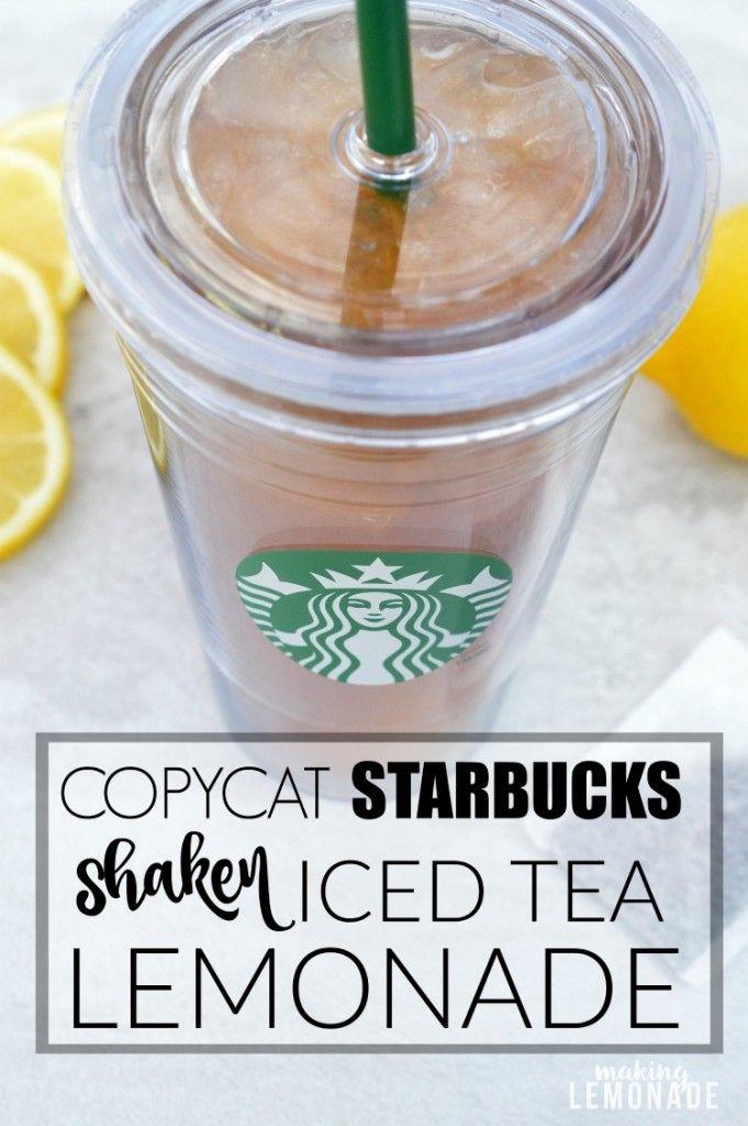 this copycat Starbucks recipe for shaken iced tea lemonade looks SO good!
