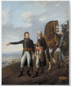 Napoleon and Chief of Staff Berthier at Marengo, 14 June 1800, by Carle Vernet.