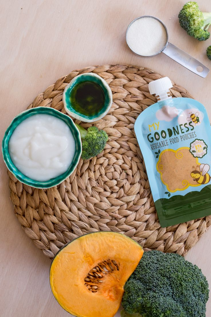 Vitamin-Charged #Pumpkin And #Broccoli #Puree Quick and easy to make, this delicious and vitamin-packed recipe is especially yummy served warm.     It makes a great lunch, as it will fuel your little one for an afternoon of activity.