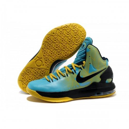 Hot Sale New KD 5 (V) Basketball Shoes Blue Yellow Black