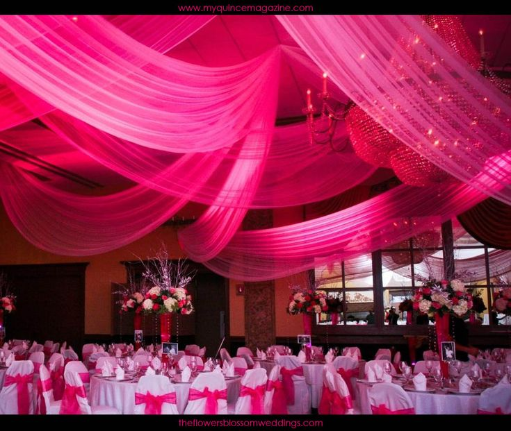 Quinceanera Pink Flower Ceiling Decorations: 71 Best Ceiling Draping Images On Pinterest