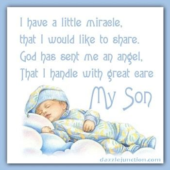 Image result for sayings about a new son