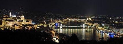 Beautiful Budapest panorama night view by Tomasz Florek, Google +