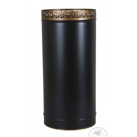 DESCRIPTION Porte parapluie en tôle noire, de forme cylindrique, orné d'une couronne en métal doré. C'est l'article auquel on ne pense pas spontanément, pour meubler une entrée. Son...