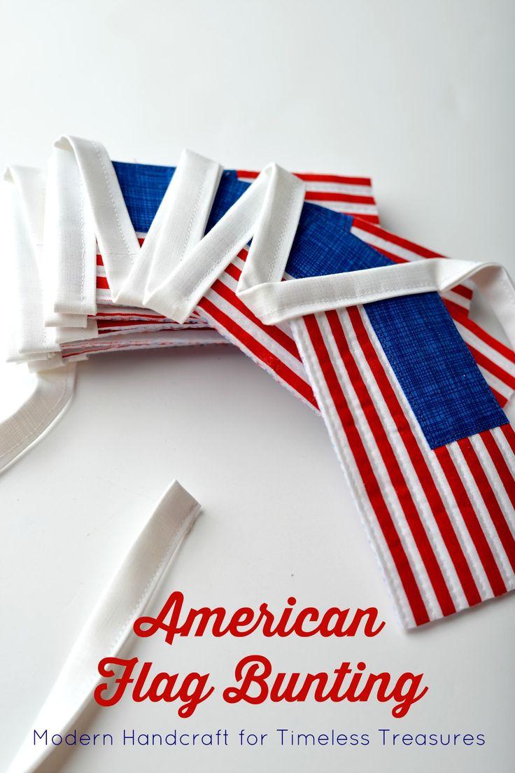 American Flag Bunting: Modern Handcraft // A Tutorial