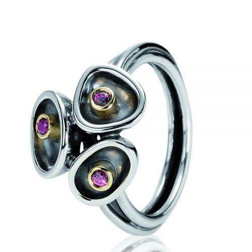 Pandora Damen-Ring Silber mit 14k Größe 5 190151RHG-57: Amazon.de: Schmuck