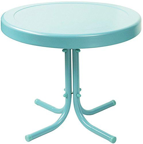 Crosley Furniture Gracie Retro 20 Inch Metal Outdoor Side Https Www Amazon Com Dp B00i555qym Re In 2020 Patio Side Table Metal Outdoor Side Table Metal Side Table