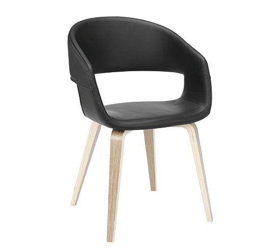 [PDV] Chaise SAN Noir Chêne - But