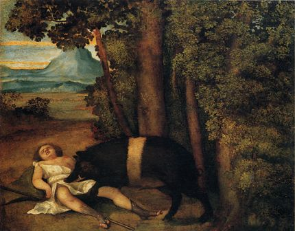 http://museolia.spezianet.it/images/opere/inv_165_big.jpg Sebastiano del Piombo. Death of Adonis c. 1510