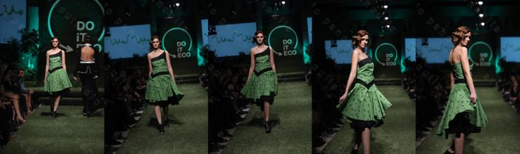 """""""Artists Valley"""" dress designed by Athena Bentila for MuMu organic for the Do it Eco Project fashion show.  MuMu organic is working with ecological fabrics since 2009!"""
