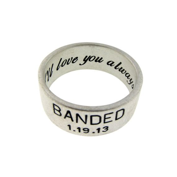 wide sterling silver duck band wedding ring by metalpressions 175 10th anniversary idea