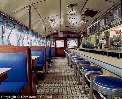 stools and booths in Wilson's Diner, Waltham MA