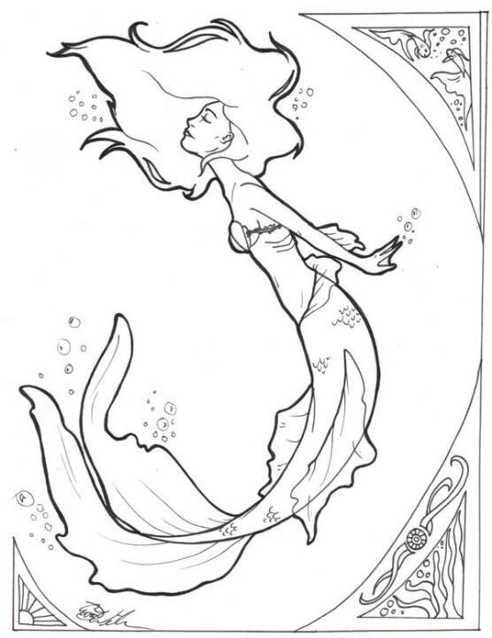 Mermaid template for wood burning ! Love it