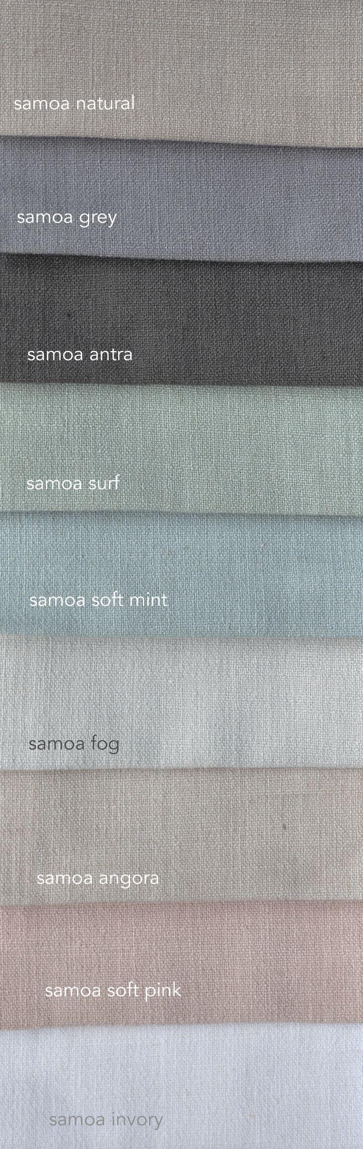 Samoa is een mooie stof met linnen. Daardoor ziet ie er mooi natuurlijk met alle praktische voordelen van polyester. Verkrijgbaar in vele kleuren. Vraag gratis stalen aan...
