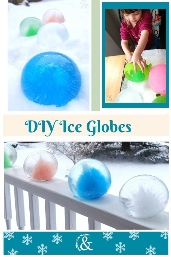 This is a fun project to do with the kids.  Get some balloons, fill them with water and freeze them = Ice Globes! #fun4kids #kidscraft #ice #balloons #winterfun