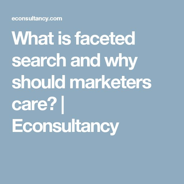 What is faceted search and why should marketers care? | Econsultancy
