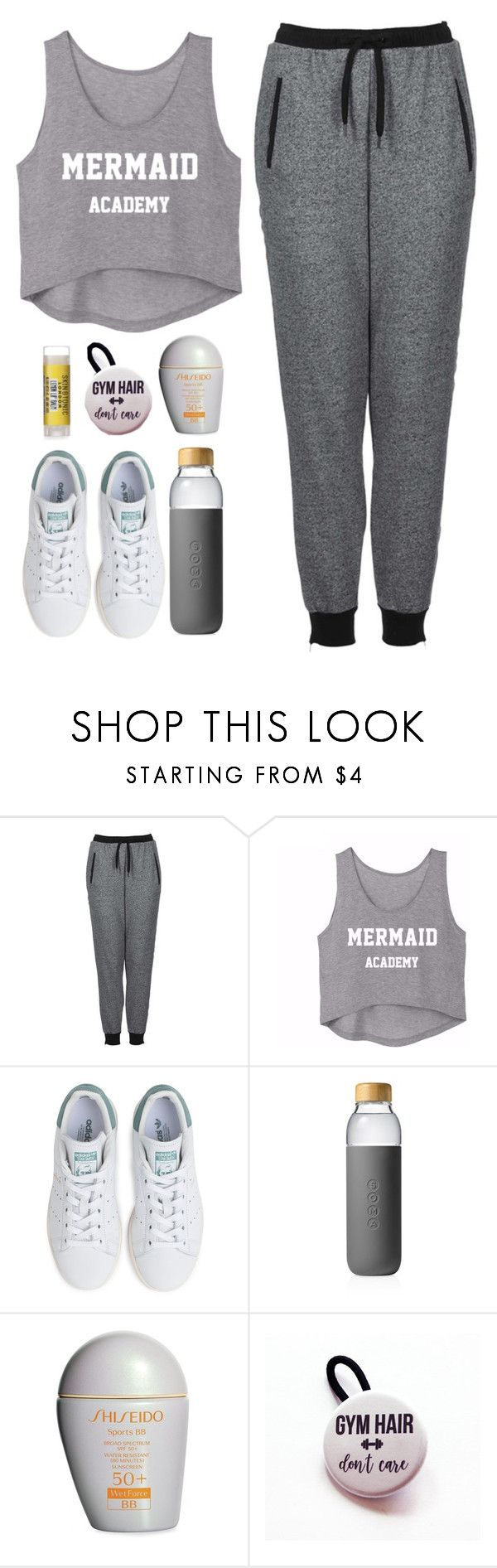 """""""gym"""" by faye-valentine ❤ liked on Polyvore featuring Topshop, adidas, Soma and Shiseido"""