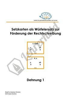Spiele-Setzkarten Dehnung  / #Förderung #Leseschwäche & #Rechtschreibschwäche #Legasthenie #Sonderpädagogik, #Rechtschreibung #Grundschule
