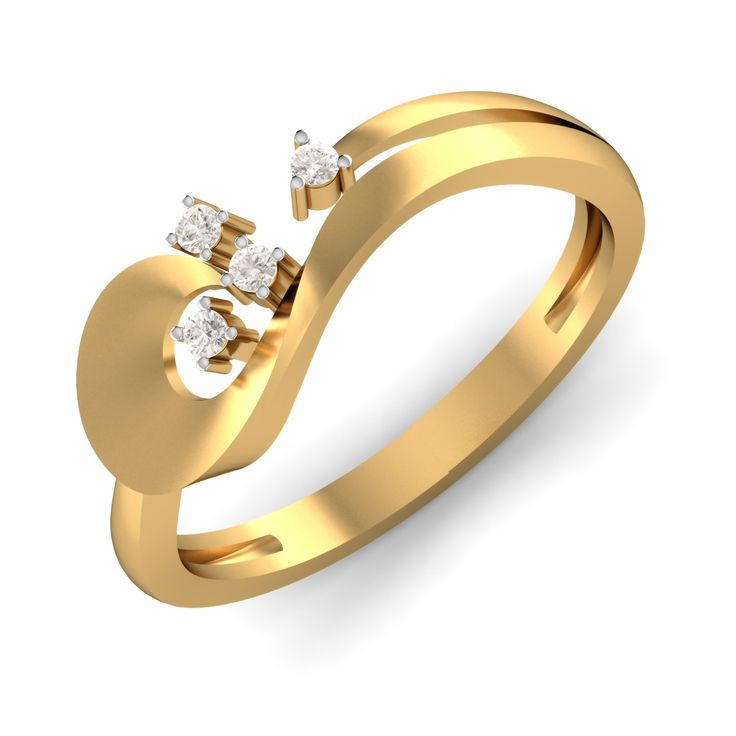 """The name justifies the potential of this piece. Just like the Hindi phrase """"Chaar chaand lagana"""", the diamonds in this golden ring are doing the same."""