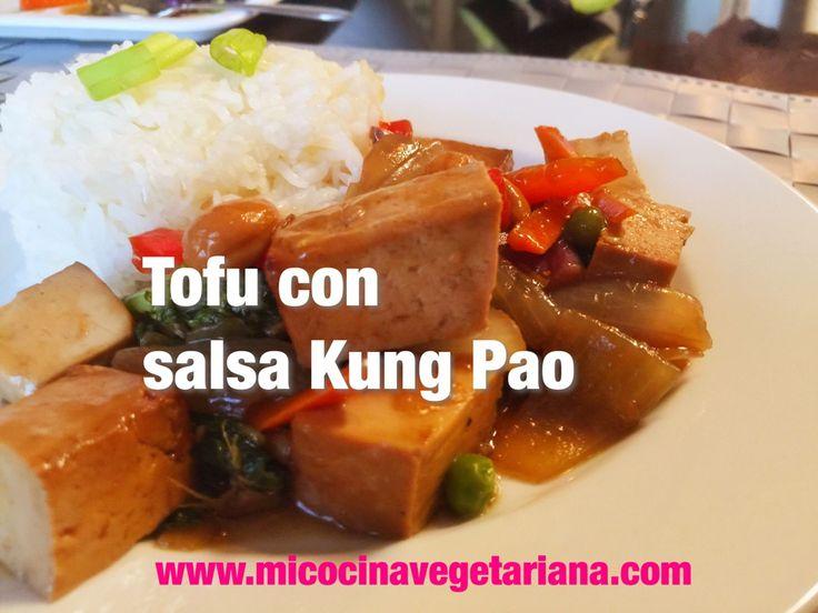 Tofu salteado con salsa Kung Pao