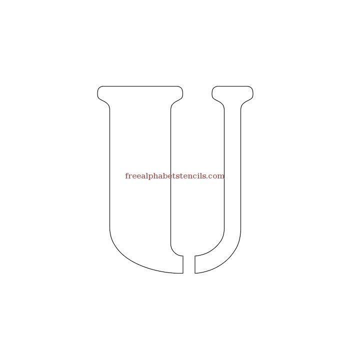 Uppercase Alphabet Stencil U