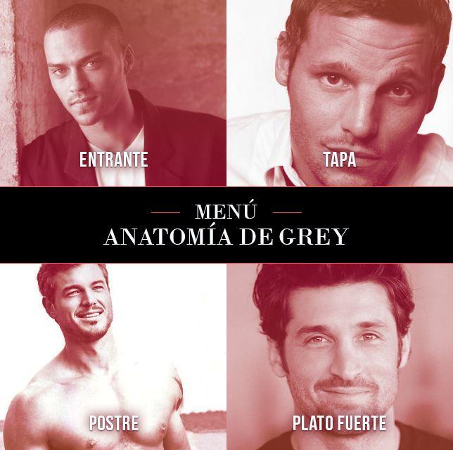 Nuestro menú especial de Anatomía de Grey. ¿A quién te pides tú? #GreysAntaomy #men #tv #shows