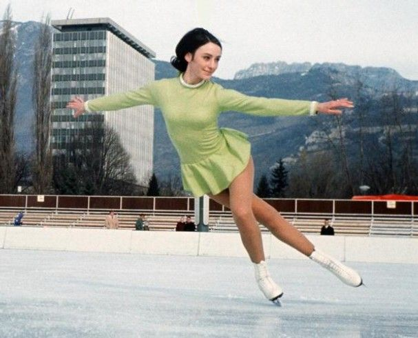 Gold medalist Peggy Fleming who became everyone's favorite figure skater during the 1968 Winter Olympics.