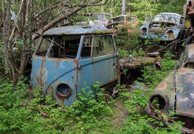 Bastnas Car Graveyard: Sweden�s Vast Vehicle Cemetery Boasts �1,000� Abandoned Cars